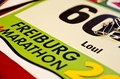 Freiburg marathon bib number (khawkins04) Tags: race germany marathon bib run number freiburg loul freiburgmarathon