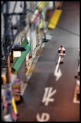 Akihabara guet-apens (pushreset) Tags: street city girl japan japanese tokyo dress pentax akihabara maid japon k5 tiltshift