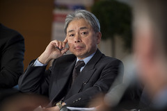 Koji Kuroda listens to fellow panelists