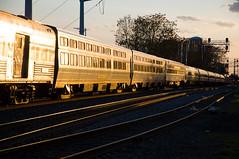 12-1695 (George Hamlin) Tags: railroad sunset train virginia crescent amtrak manassas passenger 19 glint