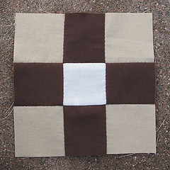 Thursday, 4/5 (amyehodge) Tags: quilt squares quilting block ninepatch 9patch piecing handsewing handpiecing