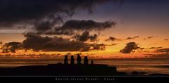 Easter Island Sunset (bgspix) Tags: chile sun canon skyscape landscape island pacific moai easterisland rapanui isladepascua ahu 550d ledepques canonef24105f4lis