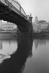 Bridge (Alexey Subbotin) Tags: bridge russia moscow jupiter 8m contaxiia москва мост киевская iford400 богдана хмельницкого