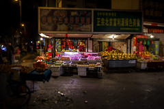 Late Night Market (Michael Steverson) Tags: china street urban vegetables fruit night canon asia market shift chinadigitaltimes 5d tilt guangxi markii liuzhou