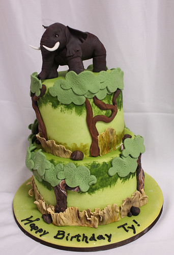 Elephant Safari Cake