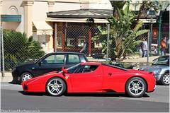 Ferrari Enzo Ride In Monaco (G-E Supercars) Tags: auto california black cars sport by night mercedes italia nissan ride martin top continental ferrari voiture monaco sl mc route enzo carlo monte gt lm bugatti serie luxe bentley aston laren 65 w16 roys supercars veyron gtr db9 marque 458 drophead rols worldcars hypercars mp412c