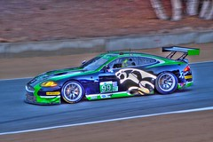 Jaquar leaving the screw (Steve Slaback) Tags: race tires laguna lagunaseca alms jaquar mazdaraceway lagunasecaraceway amercianlemansseries raceintothedarkness