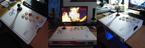 Fightstick Arcade di cartone, fatto in casa. (Homemade carton Arcade Fightstick).