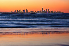 coastal sunset (ngairenaran) Tags: sunset sea skyline goldcoast top20flickrskylines