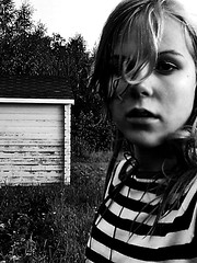 (prettylittlelife7) Tags: summer bw flower color green girl rain finland happy gloomy sad sunny rainy