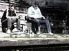 belgen17 (sindala) Tags: man person belgie streetphotography mens series desaturated gent poeple blablabla mensen colorfulpeople straatfotografie hintofcolor
