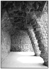 Arches - Barcelona - Spain (Jaafar Mestari) Tags: barcelona park blackandwhite white black canon eos blackwhite spain noir noiretblanc july espana parcguell 1785 untouched guell espagne parc blanc barcelone 2012 50d justcropped canoneos50d