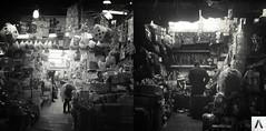 Taipei Vendors (Alvaro Arregui) Tags: blackandwhite 120 6x6 film asia noir taiwan hasselblad squareformat taipei bnw ildford