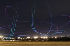 Aeromodelos em voo noturno (J.Lobo) Tags: braslia de o na fotos com em so exposio estas longa brasiliense tcnica registro associao foram iluminados voos as aeromodelo