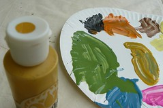Mixing Colors (a-different-point-of-view) Tags: art colors painting bottle paint bright artistic plate palate