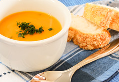 Pumpkin and Parmesan (Put Some Flavour) Tags: food cheese pumpkin bread soup cream consome
