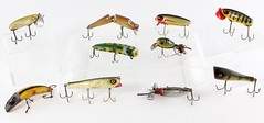 3016. (10) Assorted Vintage Wood & Plastic Lures