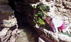 a jolly adventure (deadmanjones) Tags: child caves littlegirl cave rockpooling flamborough seacaves northlanding