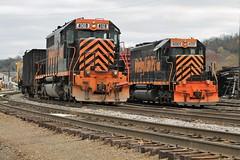 WE643, Rook Yard (W&LE45) Tags: railroad train trains rook westland southview tankcars sd40 sd403 wle rookyard wheelinglakeerie