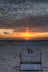 25 or 6 to 4? (brands: www.JUDO.pictures | www.TANZ.photo) Tags: sunset sea germany island deutschland meer sonnenuntergang insel hdr strandkorb borkum photomatix kwiseaside kwikitsch strandkorbkitsch