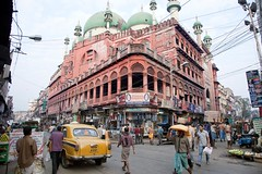 The 400 year old Nakhoda Mosque_3276 (hkoons) Tags: street people urban india black building car architecture buildings town alley worship commerce god market cab taxi muslim islam prayer religion transport hijab goods taxis sidewalk alleyway transportation shops vehicle gods vendor merchandise ambassador residence sales centralasia kolkata salesmen deity calcutta salesman allah burqa saleswoman burkha westbengal vendors populace beliefs burka burqua sidewalkvendors nakhodamosque