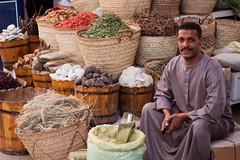Spice seller, souq, Aswan (Richard Vize) Tags: spice egypt nile aswan seller souq