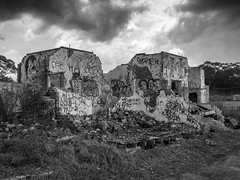 Ward 21 (ozhaggis) Tags: bw white black monochrome buildings hospital ruins 21 ward asylum remains rubble psychiatric ward21 morisett
