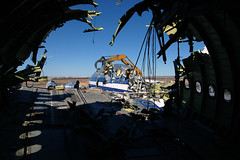 N7055A: View from aft fuselage (Ian E. Abbott) Tags: airbus 500views americanairlines boneyard airliner victorville widebody a300 airbusa300 airplanegraveyard vcv a300b4605r aircraftgraveyard victorvilleairport southerncalifornialogisticsairport airbusa300b4605r kvcv n7055a airlinerscrapping requestforuse