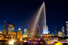 Chicago #  073   (EXPLORE) (benchorizo) Tags: city longexposure chicago skyline nikon cityscape nightshots buckinghamfountain chicagoist banias d90 greatcities benchorizo romeobanias