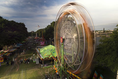 Ferrised Wheel (Curtis Gregory Perry) Tags: park longexposure carnival motion blur wheel festival oregon river portland movement nikon waterfront ride fair ferris pdx willamette cincodemayo d800e