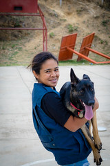 Dina and her dog Trufe.