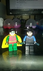 custom original robin and night wing (teamfourstud) Tags: green robin night comics dc power lego flash wing superman armor captain joker decal lantern cyborg custom marvel lex decals exclusive shazam nightwing luthor bizzaro