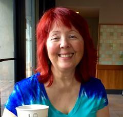 Sharon (StephenReed) Tags: portrait woman square friend sharon starbucks stephenreed iphone5s