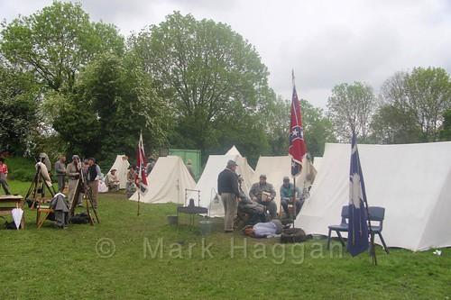 US Civil War reenactment at Moira Canal Festival 2016