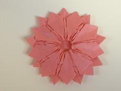 Nonagonal Jaravko star (Mlisande*) Tags: circle origami mlisande nonagon jorgejaramillo nataliaguzowska