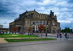 Opera House in Dresden, Germany (` Toshio ') Tags: people architecture clouds germany dresden europe european operahouse europeanunion semperoper toshio schsischestaatsoperdresden xe2 fujixe2 concerthallofthestaatskapelledresden semperoperballet