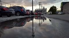 Seattle puddle (rve13) Tags: seattle puddle safecofield cloudsstormssunsetssunrises