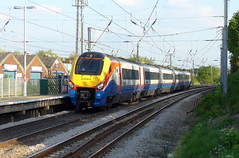 East Midlands Trains Meridian 222014 passing through Flitwick (Mark Bowerbank) Tags: trains east passing through meridian midlands flitwick 222014