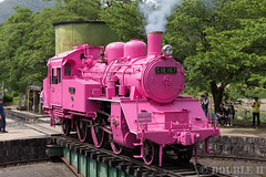 Pink SL at Wakasa Railway (33) (double-h) Tags: sl tottori jnr steamlocomotive c12   eos6d    railwayturntable ef2470mmf4lisusm  pinksl wakasarailway  c12 c12167 wakasastation classc12 c12 sl