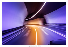 Drive (Phil Durkin) Tags: longexposure travel summer car speed liverpool underground drive evening moving driving arch bend arc fast tunnel vehicle thewirral