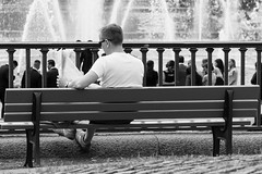 The Reader (steffakasid) Tags: street bw color colour canon landscape eos blackwhite colorful technik places cameras orte landschaft farbe mannheim 6d kameras schwarzweis objektive 24704l