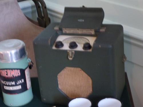 Upton House and Gardens - men's bedroom - radio / wireless