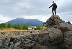 toby finds the volcano (gwilli) Tags: animated gif wiggly japan japan2014 sakurajima