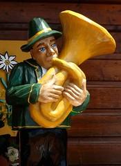 Hornblower (e r j k . a m e r j k a) Tags: ohio switzerland whimsy swiss figure instrument sugarcreek horn cuckooclock us62 tuscarawas erjkprunczyk oh39 i77oh