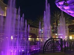 Paint the town purple (LarryJay99 ) Tags: blue windows sky urban color tower water fountain exterior rooftops purple florida streetlamp textures nightsky ornate waterfeature photostream smallwater alzheimersassociation cityplacewestpalmbeach iphone6splusbackcamera415mmf22