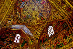 Vank Church (Poria) Tags: city roof urban art church beautiful architecture painting persian arch view top religion indoor christian  isfahan   persianart persianarchitecture