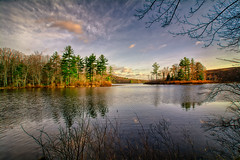 WC-3-31-16 (desouto) Tags: sky snow nature water clouds stream stones lakes ponds hdr