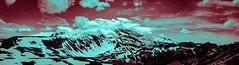 Color Range (King Gator) Tags: panorama mountain snow color nature photoshop 35mm outdoors f14 experiment rainier fujifilm photomerge fujinon e2
