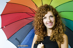 Colored rain (DAVD PEA PREZ) Tags: portrait color colour rain umbrella lluvia retrato pluie estudio paraguas parapluie paraiges