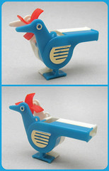 Vintage Japanese Whistle (The Moog Image Dump) Tags: blue red japan vintage japanese blow retro plastic novelty whistle posse